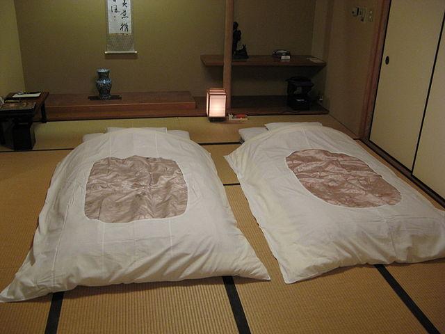 chambre japonaise futon